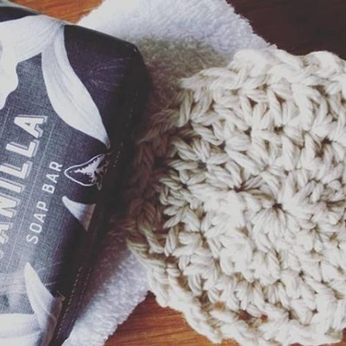 Crochet Cotton Face Scrubby